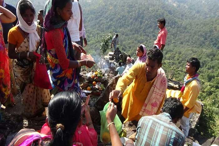 dholkal ganesh idol again placed at dholkal hill