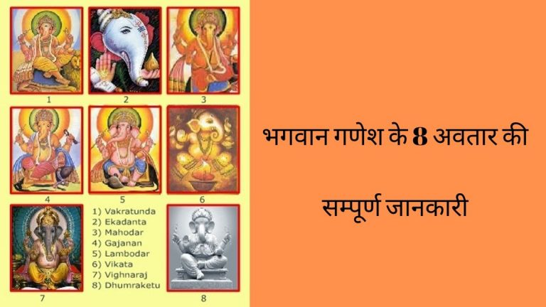 8 avtar of lord ganesha in hindi