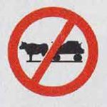 Bullock cart prohibited image