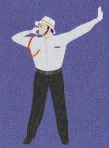 Taffic police hand signals in hindi