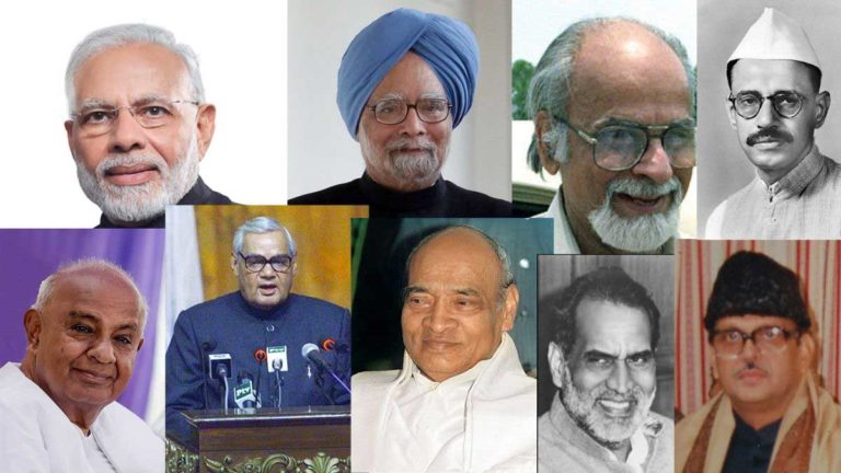 list of prime ministers of india in hindi